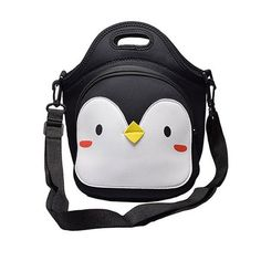 MOT Global Penguin Insulated Neoprene Lunch Bag Lunch Tote with Adjustable Shoulder Strap by MOT Global * For more information, visit image link. (This is an affiliate link) All About Penguins, Penguin Love, Penguin Craft, Penguin Nursery, Penguin Parade, Penguin Baby, Lunch Tote Bag, Lunch Bags, Neoprene Lunch Bag