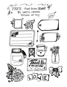 Free hand drawn clip art by Sweetly Scrapped