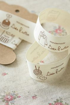 Linen Sewing Tape-Label Tape-Sew in Label-Ribbon-Cotton and Linen Ribbon Sewing Hacks, Sewing Projects, Stationery Craft, Fabric Labels, Love Sewing, Fashion Labels, Custom Labels, Ribbons, Knitting