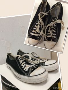 f32ac900bc75 Men s size 8. Converse. Black cloth.