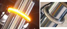 LED Fork Light Turn Signal Kits 39mm Fork size, Smoked Tubing, Amber LEDs