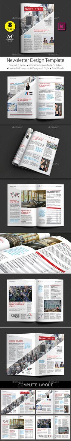 12 pages newsletter design template v 2 design design templates