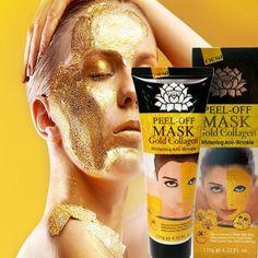 Masque Facial Or 24 Carats pour soins du visage, hydrate et régénère la peau contre le vieillissement