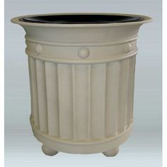 "Allied Molded Products Virginia 36-Gal Industrial Trash Bin Size: 37"" H x 33"" W x 33"" D, Color: Charcoal, Configuration: Trash Only"