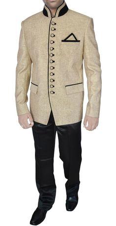 INMONARCH Mens Occasional Jodhpuri Suit JO288 54S Beige