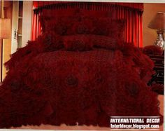 Royal red bedspreads luxurious models burgundy bedspreads and bedding sets Red Bedspread, Floral Bedspread, Red Bedding, Luxury Bedding, Royal Bedroom, Master Bedroom, Wedding Bedroom, Royal Design, Royal Red