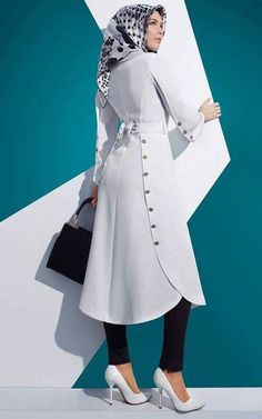 This top/jacket looked really neat Islamic Fashion, Muslim Fashion, Modest Fashion, Fashion Outfits, Designs For Dresses, Islamic Clothing, Abaya Fashion, Mode Hijab, African Fashion Dresses