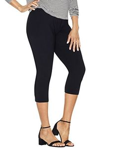 027831a050 Wait till you try on these capri-length cotton leggings. Theyre so soft and  comfy youll pretty ...