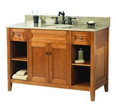 """View the Foremost FMTRIA4822D Exhibit 48"""" Vanity Cabinet Only at FaucetDirect.com."""