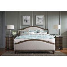 Ophelia & Co. Walburn Upholstered Standard Bed | Birch Lane Upholstered Platform Bed, Upholstered Beds, Hooker Furniture, Furniture Making, Bedroom Furniture, Furniture Ideas, Furniture Design, Bedroom Sets, Home Bedroom