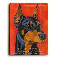 Doberman Wood Sign
