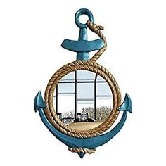 Best Rope Mirrors and Nautical Wall Decor! Discover the top-rated nautical themed rope wall decorations and rope themed mirrors. Nautical Bathroom Mirrors, Nautical Mirror, Nautical Wall Decor, Nautical Theme, Coastal Decor, Round Mirror With Rope, Rope Mirror, Round Wall Mirror, Hanging Mirrors