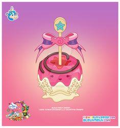 Kawaii Pink Candy Apple by KawaiiUniverseStudio.deviantart.com on @DeviantArt
