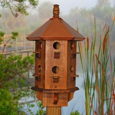 martin house colors bird | Purple Martin Bird houses handcrafted from natural wood, rustic ...
