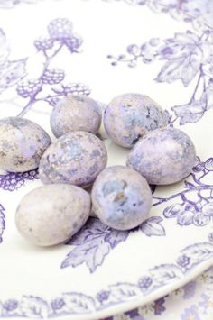 Purple speckled eggs