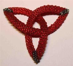 "Celtic Knot from D. Fitzgerlad's ""Shaped Beadwork"". (pattern on website) #3D #tubular"