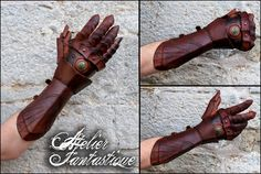 [Nushem'rah gauntlet] fully articulated leather gauntlet