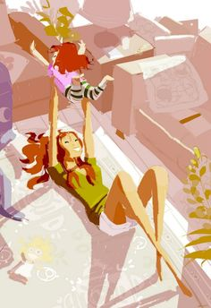 (Pinned by AshOkaConcept ॐ) Original Illustrations by Pascal Campion Pascal Campion, Funny Pictures For Kids, Funny Kids, Family Illustration, Illustration Art, Graphic Illustrations, Arte Fashion, Familia Anime, Sailor Scouts