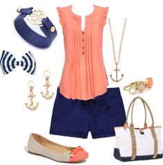 Nautical Chic, created by kngreene on Polyvore