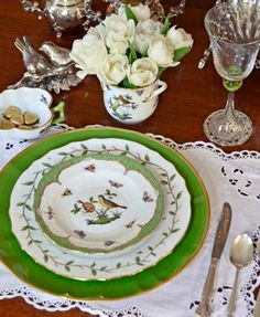 Pretty Place Settings: Combine old and new china, silver, crystal, and linens to make a stunning impression on your table.   Mississippi Magazine