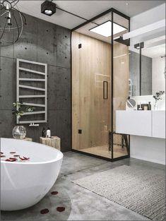 Новости bathroom/ванна cuarto de baño, lofts modernos и baños modernos. Industrial Bathroom Design, Industrial Interior Design, Industrial Interiors, Modern Bathroom Design, Bathroom Interior Design, Bathroom Styling, Bathroom Designs, Bathroom Lighting, Industrial Bedroom