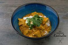 Mein wunderbarer Kochsalon Butter Chicken, Pasta, Thai Red Curry, Make It Yourself, Ethnic Recipes, Food, Pressure Cooker Brisket, Indian, Food Food