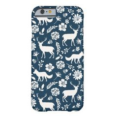 winter woodland animals iPhone case stags Barely There iPhone 6 Case - animal gift ideas animals and pets diy customize