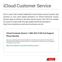Infographic: iCloud Customer Service