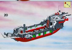 Thousands of complete step-by-step printable older LEGO® instructions for free. Here you can find step by step instructions for most LEGO® sets. Lego Pirate Ship, Lego Ship, Black Mode, Lego Group, Lego Instructions, Legos, Pirates, Ships, Lego Boat