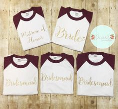 Bridal party baseball tees Hey, I found this really awesome Etsy listing at https://www.etsy.com/listing/459958930/bridal-party-baseball-tees-wedding-bride