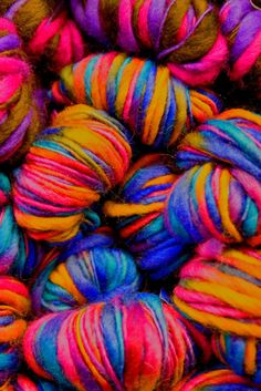 A load of yarn for knitting