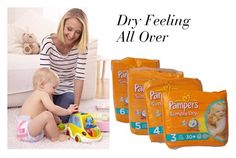 Pampers Simply Dry by babyblau on Polyvore featuring polyvore, fashion, style and clothing