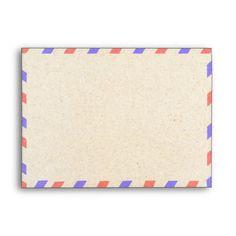 Vintage Airmail A7 Envelopes 5x7