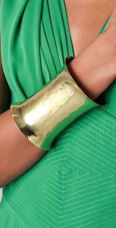 Wide gold cuffs, the perfect bold accessory!