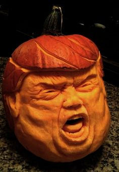 Trumpkin: The true orangekin Cute Pumpkin Carving, Pumpkin Stencil, Pumpkin Carvings, A Pumpkin, Holidays Halloween, Halloween Decorations, Halloween Costumes, Official Presidential Portraits, Octopus Drawing