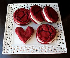 Well,dear readers, the month of Love is upon us. Love and Kisses and Valentines Day. Which are all a wonderful reason to makeRed Velvet Sandwich Cookies. (You can actually make them any time duri...