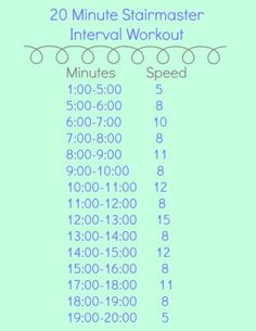 Stairmaster Interval Workout