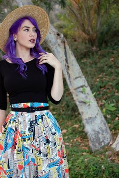 Emily and Fin Painted City Florence Skirt
