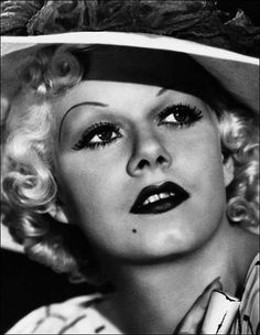 hat and beauty spot: Jean Harlow