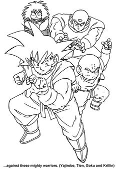 dragon ball z son goku and friends coloring pages for kids printable dragon ball z coloring pages for kids - Coloring Pages Dragon Ball Goku