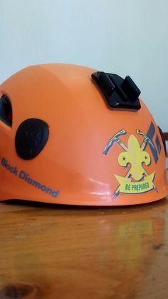 Be Prepared helmet sticker from the 5th West Vancouver Mountaineer Scouts