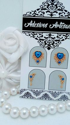 Modelos de joias de luxo para as unhas inspiração unhas decoradas Diy Manicure, Pedicure, Caviar Nails, Nail Jewels, Gem Nails, Stylish Nails, E Design, Decorative Boxes, Nail Designs