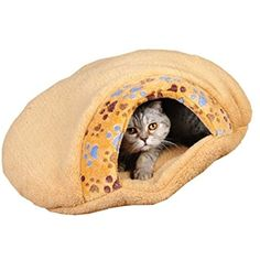 Enking Cute Paw Prints Pet Sleeping Bag Cat House(Medium) * You can find more details by visiting the image link. (This is an affiliate link) #DogHouses