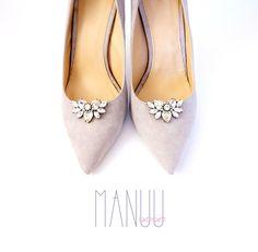 Rhinestone shoe clips Shoe clips Manuu Shoe jewelry Manuu