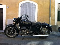 moto guzzi - seen while on holiday in Provence