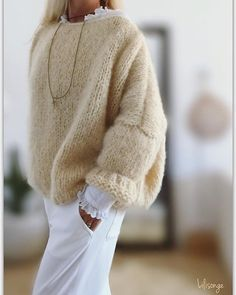 Sweet friday to you . Sweet friday to you . Mode Outfits, Fashion Outfits, Womens Fashion, Fashion Trends, Foto Fashion, Paris Mode, Mohair Sweater, Cozy Sweaters, Mode Inspiration