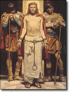 Jesus Christ God the Father Holy Spirit Dean Cornwell - Christ Before Pilate Bible Pictures, Jesus Pictures, Religious Pictures, Easter Pictures, Christian Images, Christian Art, Catholic Art, Religious Art, Bicicletas Raleigh
