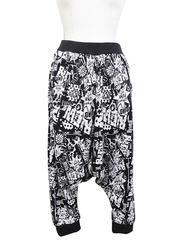 American Comic Pattern Sarrouel Pants White / See more at http://www.cdjapan.co.jp/apparel/superlovers.html #harajuku