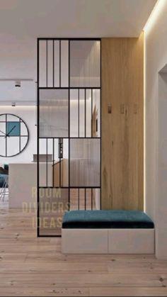 Divider Design, Foyer Design, Decoration Design, Home Room Design, Home Interior Design, Living Room Designs, Interior Decorating, Room Interior, Apartment Interior