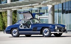 How beautiful is that car? 1955 Mercedes-Benz 300 SL Gullwing